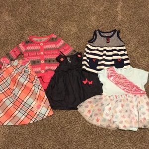 lot of 3-6 month baby girl dresses (5)